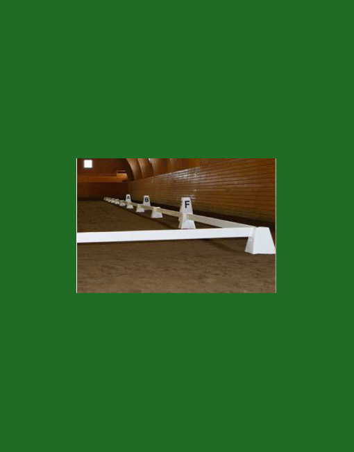 HINDERNISMATERIAAL-Dressuur-ring-kunststof-wit