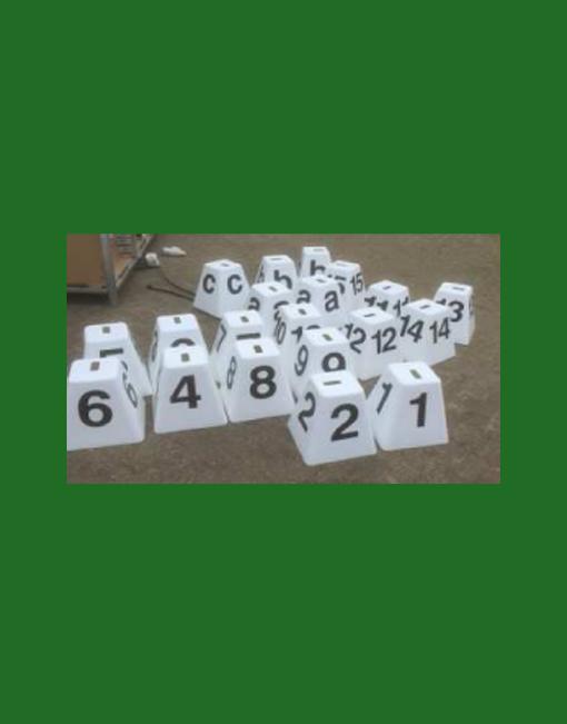 HINDERNISMATERIAAL-Hindernisnummers
